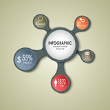 Abstract round business info graphic template