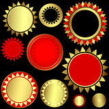 Set of patterned circular patterns