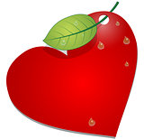Heart with leaf