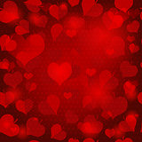Red valentine seamless pattern