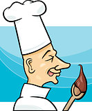 cook with chocolate cream cartoon