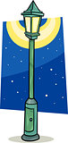 streetlight lantern cartoon illustration