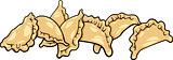 pierogi or dumplings cartoon clip art