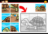 cartoon turtle jigsaw puzzle game