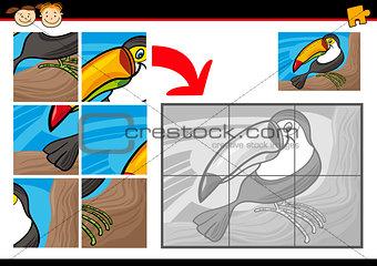 cartoon toucan jigsaw puzzle game
