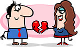couple in love valentine cartoon