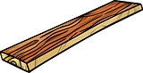 plank or board cartoon clip art
