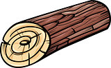 wooden log or stump cartoon clip art