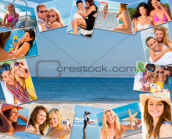 Happy Friends & Couples Holiday Lifestyle Montage