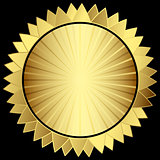 Decorative gold star