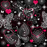 Seamless valentine lacy pattern