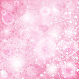 Gentle pink valentine background
