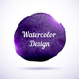 Watercolor vector background. Abstract grunge blob