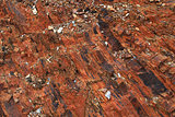 Abstract rock texture from Pyrenees mountain in Portugal