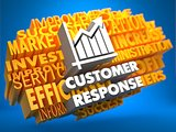 Customer Response. Wordcloud Concept.