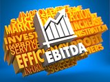 EBITDA. Wordcloud Concept.