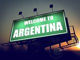Welcome to Argentina Billboard at Sunrise.