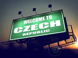 Welcome to Czech Republic Billboard at Sunrise.