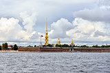 Fortness of St. Peter and Pavel and river Neva in St-Petersburg,