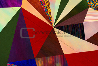 Abstract triangles geometric multicolored pattern, mosaic