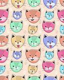 cute cat seamless pattern for children