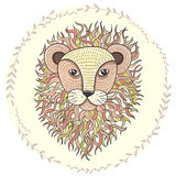 Cute little lion illustration for children.