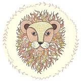 Cute little lion illustration for children.