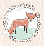 Cute little fox illustration for children.