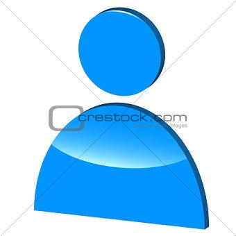 3D symbol of man