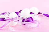 festive traditional easter egg decoration purple