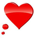 3d heart symbol