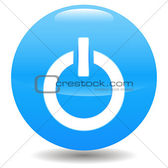Power blue circle logo