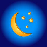 3D moon symbol