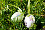 easter egg decoration outdoor in spring