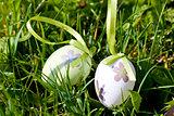 easter egg decoration outdoor in spring