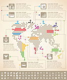Infographics With Earth Map