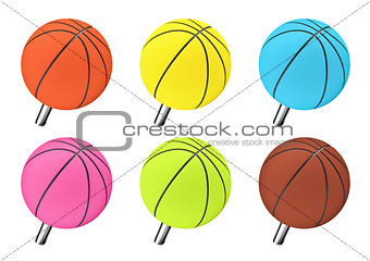 Basketball push pin
