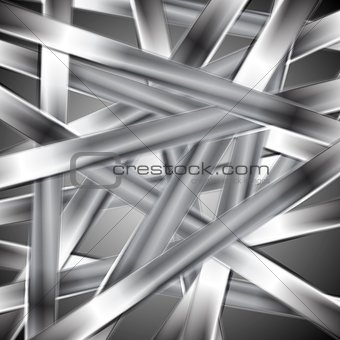 Abstract vector metallic design