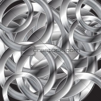 Abstract metallic circles vector design