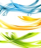 Abstract colorful wavy vector banners