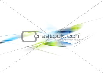 Bright abstract tech vector design