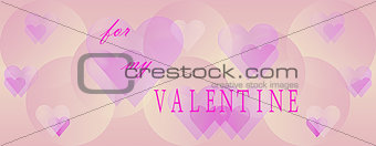 Panoramic Valentines Day background