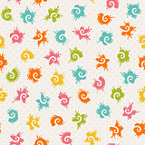 Seamless baby pattern with colorful shapes.