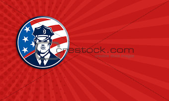 American Policeman Security Guard Retro