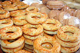 "turkish pastry ""simit"" as background"
