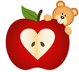 Teddy Bear on Apple