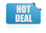 Hot deal blue sticker