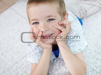 Boy on the floor