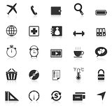 Application icons with reflect on white background. Set 2