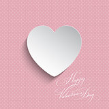 Polka dot Valentines heart background